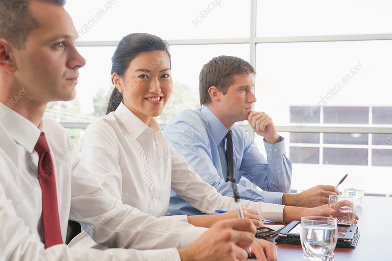 Business colleagues in office meeting