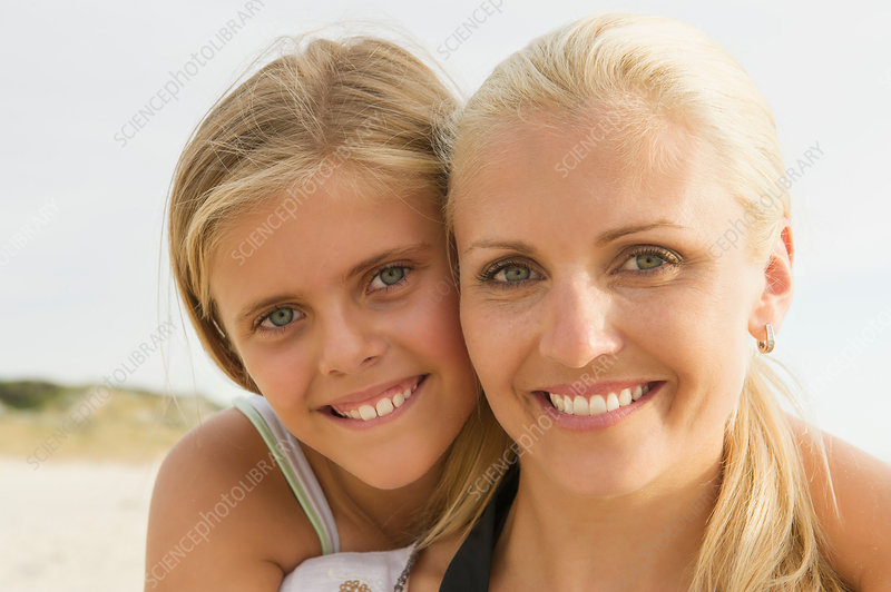 Portrait of mother and daughter l