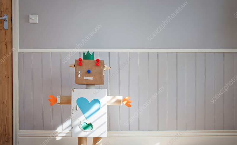 Homemade toy robot