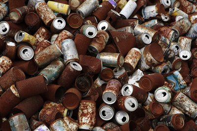 Rusting drink cans