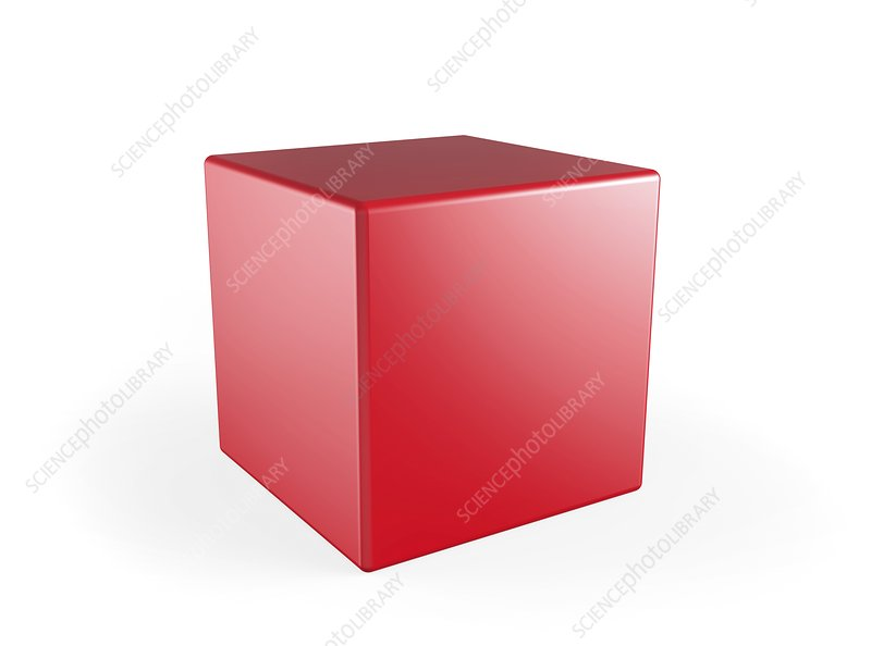 Red cube, artwork