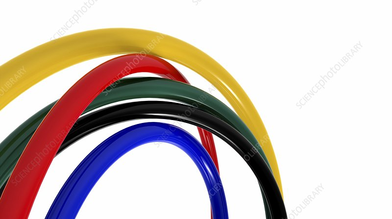 Coloured hoops, artwork