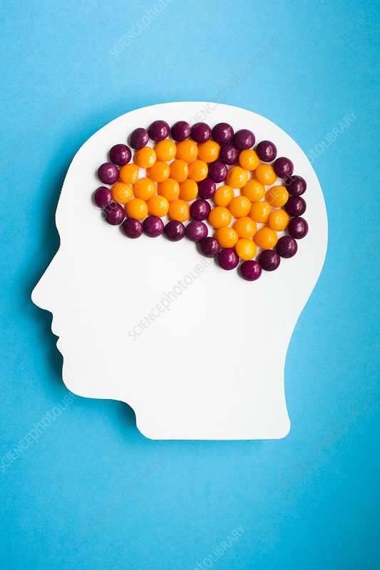 Brain drugs, conceptual image