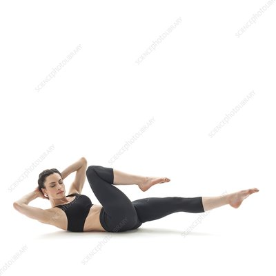 Woman doing abdominal crunches