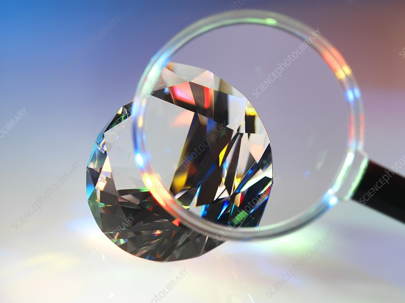 Diamond refracting light