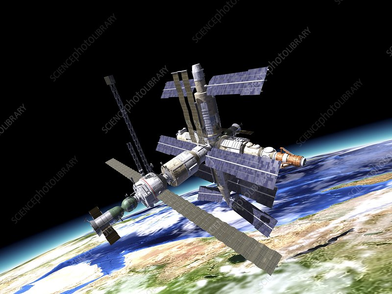 Space station, artwork