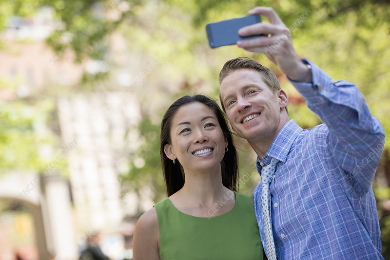 Couple taking a selfie photograph