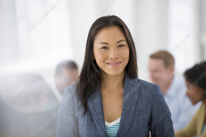 Meeting lead by businesswoman