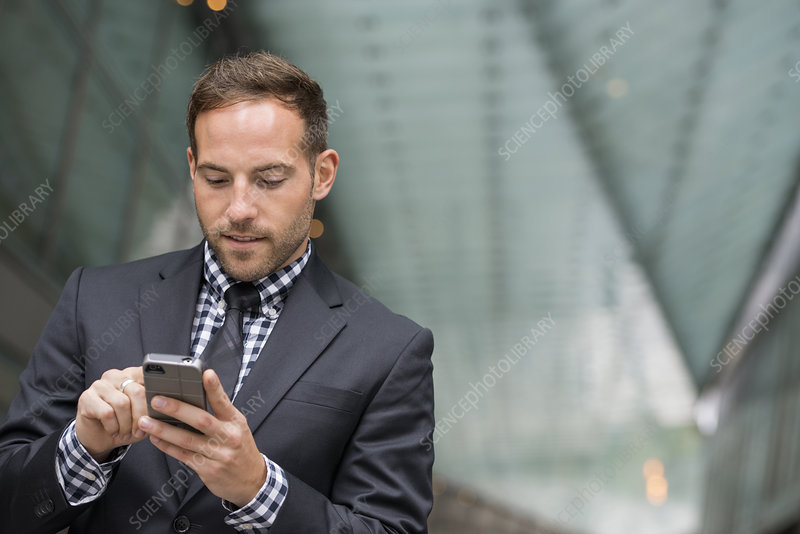 Businessman on his phone