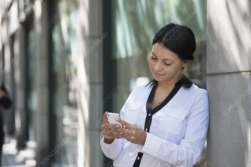 Business people Woman checking Her phone