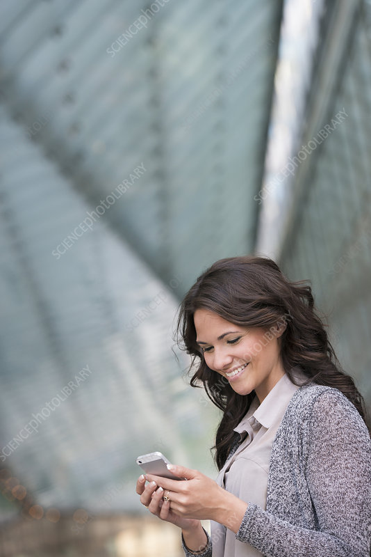 Businesswoman on a smart phone