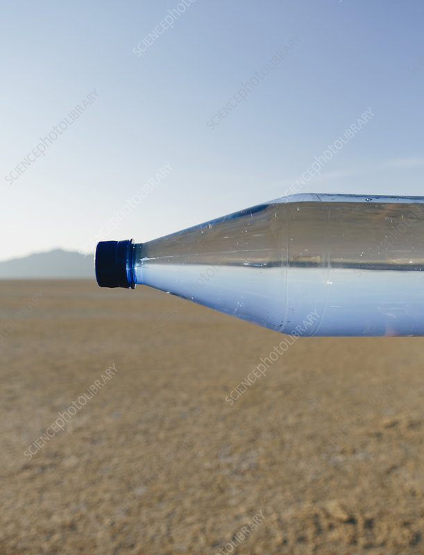Bottle of water in Black Rock desert