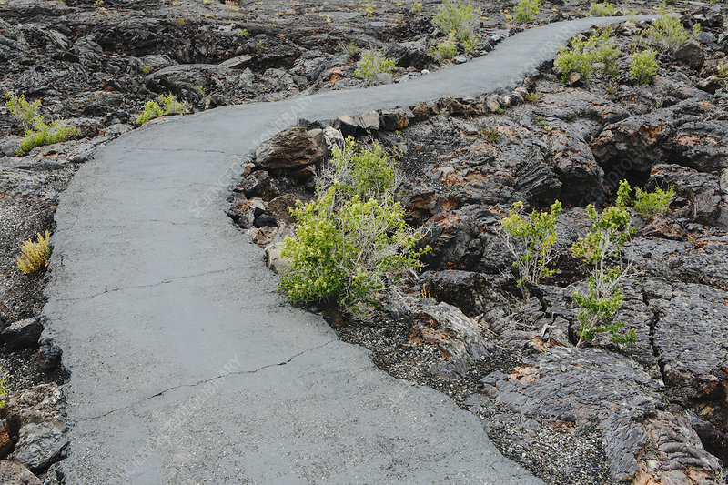 Lava fields Of The craters Of The moon