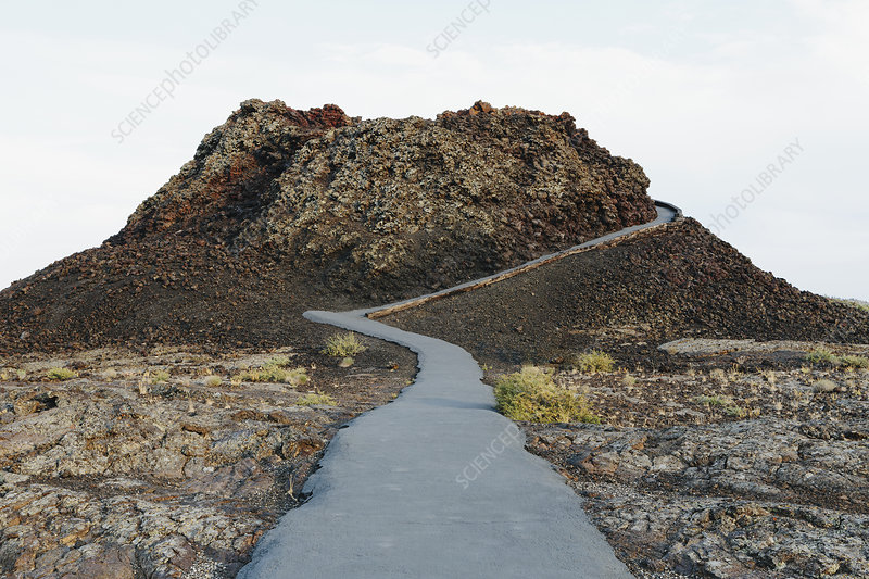 Pathway in solidified lava fields