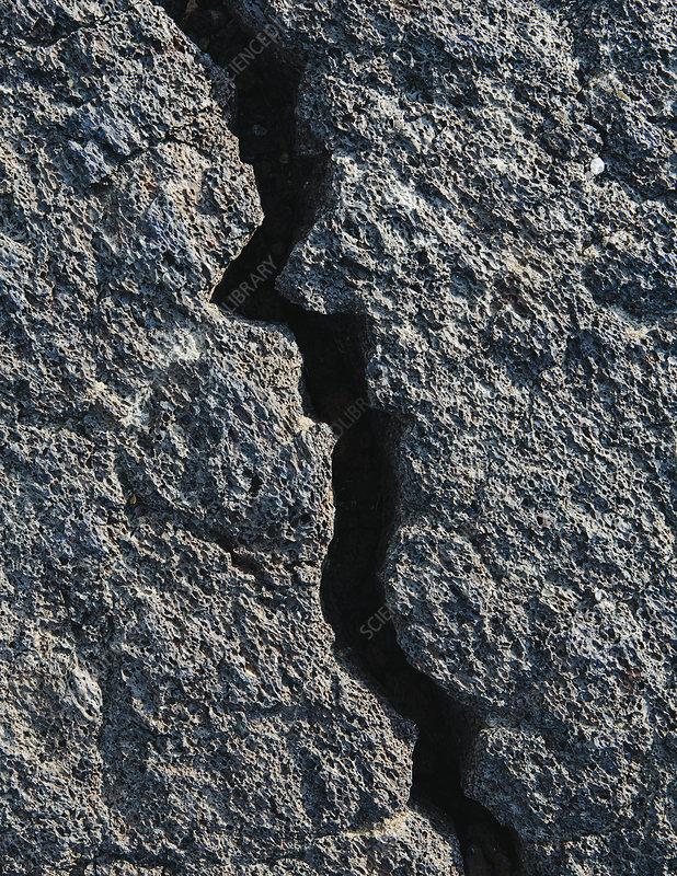 Solidified Lava fields landscape
