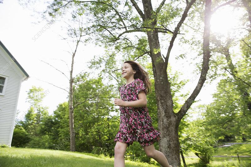 Girl in a summer dress