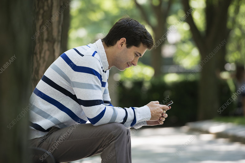 Man checking his smart phone
