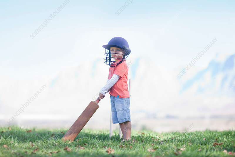 Boy with cricket bat