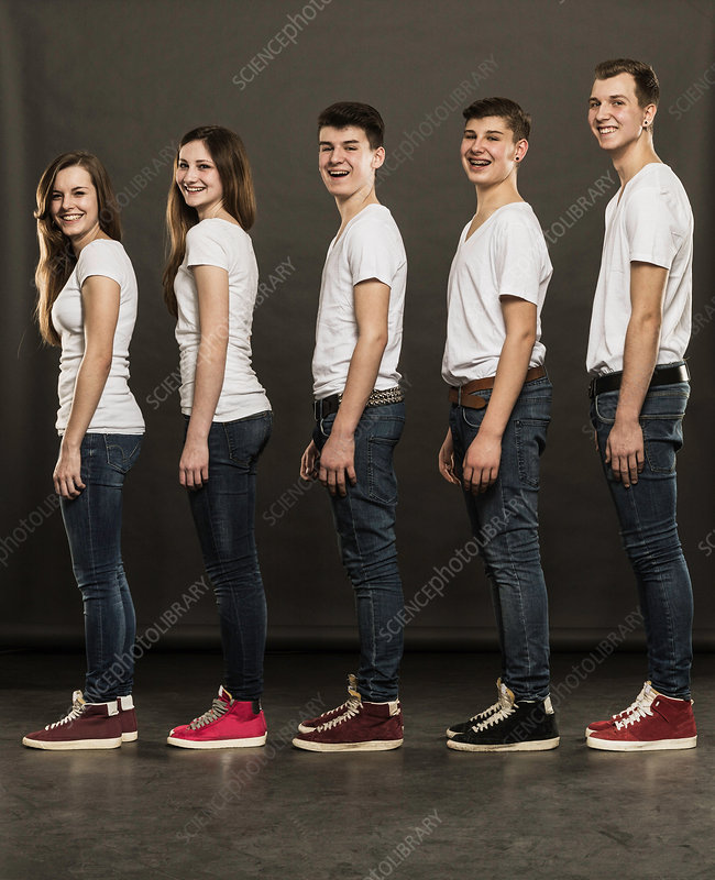 Teenagers standing in a group