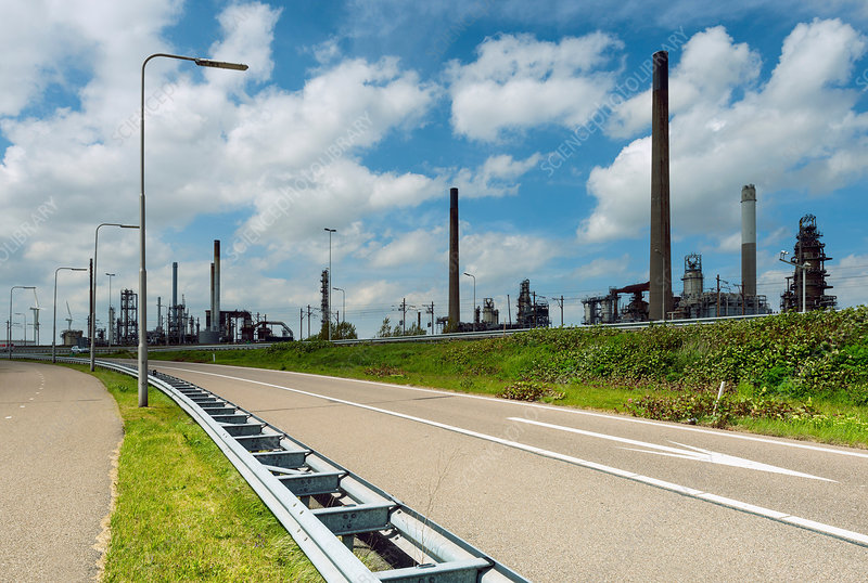 Motorway and oil refinery, Holland