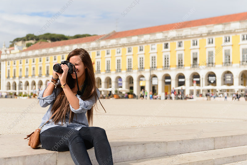 Tourist in Lisbon, Portugal