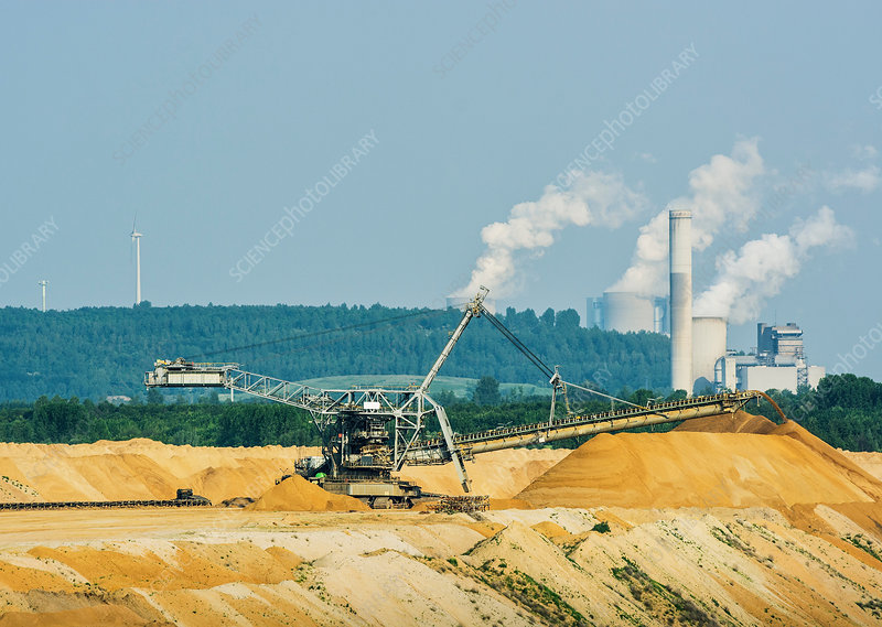 Brown coal extraction, Juchen, Germany