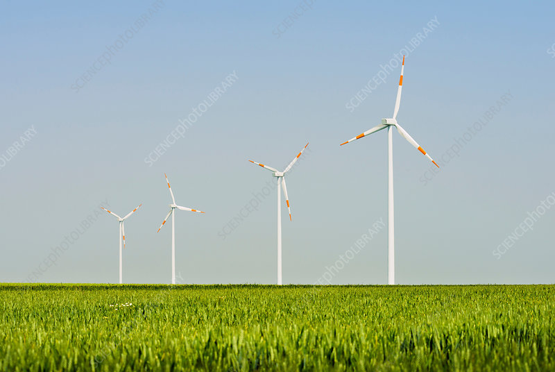 Wind turbines, Selfkant, Germany