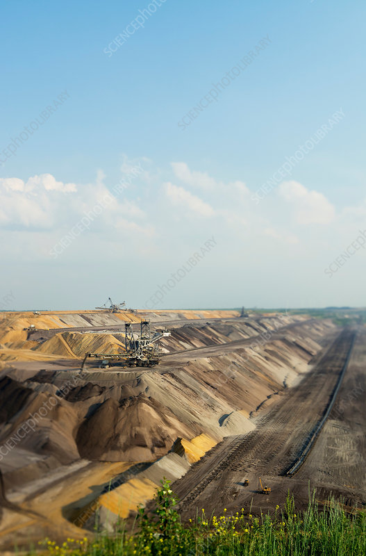 Opencast mine for brown coal, Germany