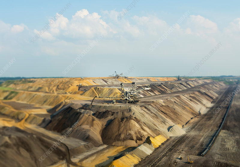 Opencast coal mine, Juchen, Germany