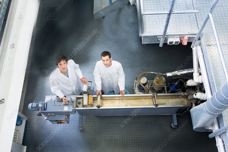 Technicians in working laboratory