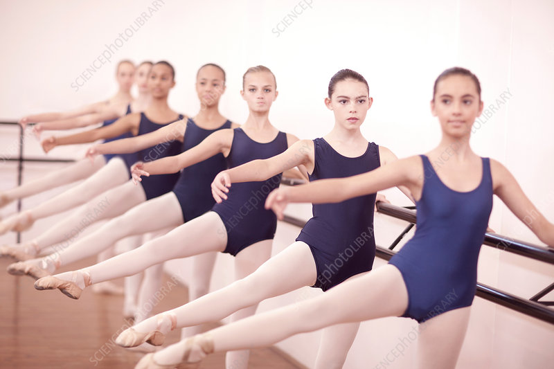 Ballerinas with legs outstretched