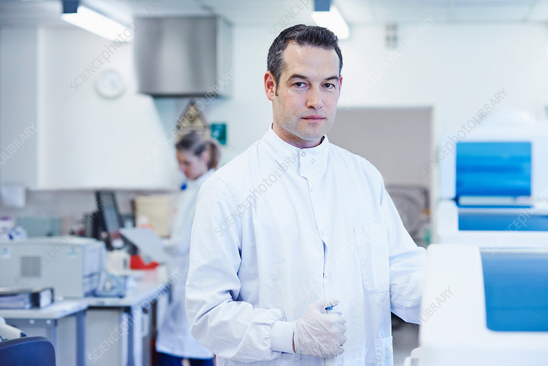Portrait of researcher in laboratory