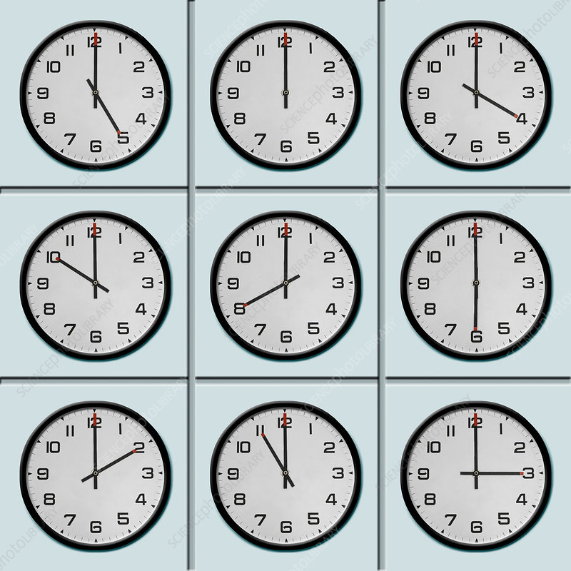 Clocks with different time zone