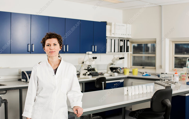 Female scientist in laboratory