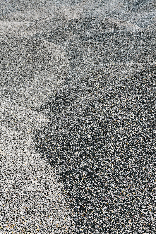 Rocks in gravel piles