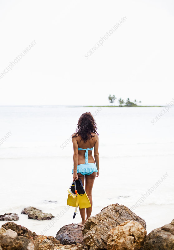A woman on the beach in Dominican Republi