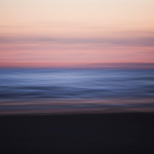 Seascape at dusk, blurred motion