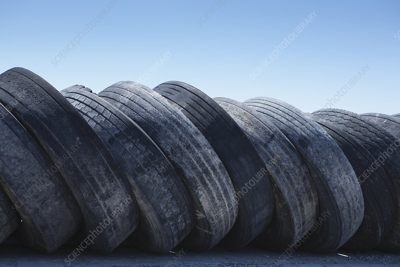 Row of discarded tires, Wendover