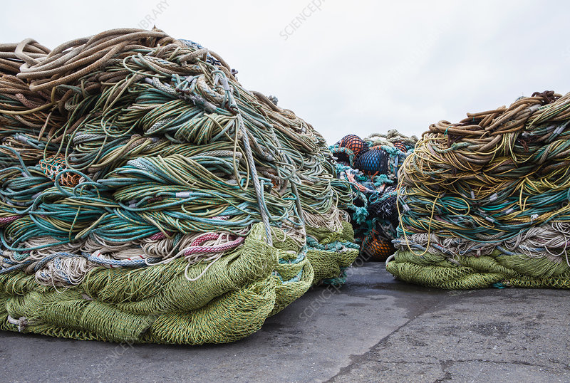 Commercial fishing nets, Seattle harbour