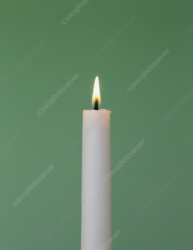 Flame from lit candle