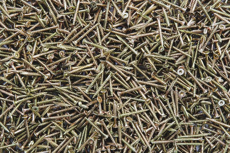Pile of screws, full frame
