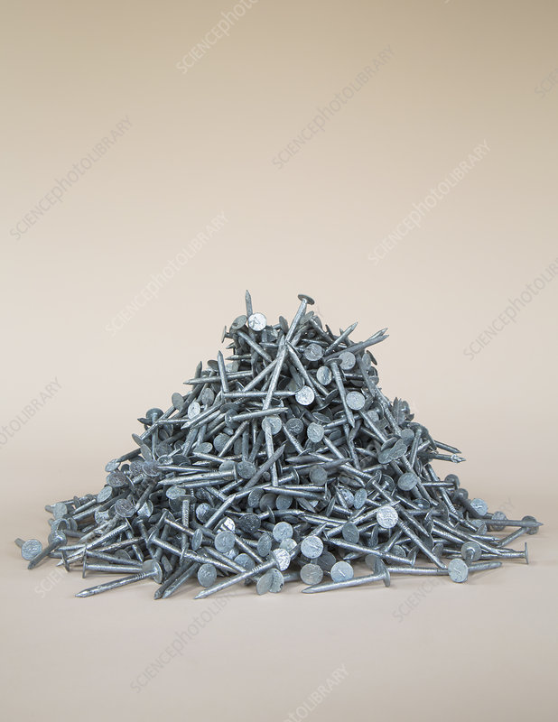 Pile of galvanized nails
