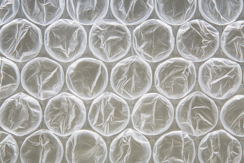 Bubble wrap, used for packaging
