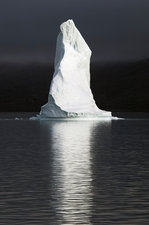 Iceberg in a fjord, Greenland.