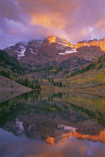 The Maroon Bells peaks in Colorado