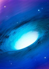 Artwork of a white hole, or cosmic gusher