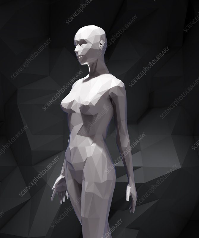 Stylized 3D woman , artwork