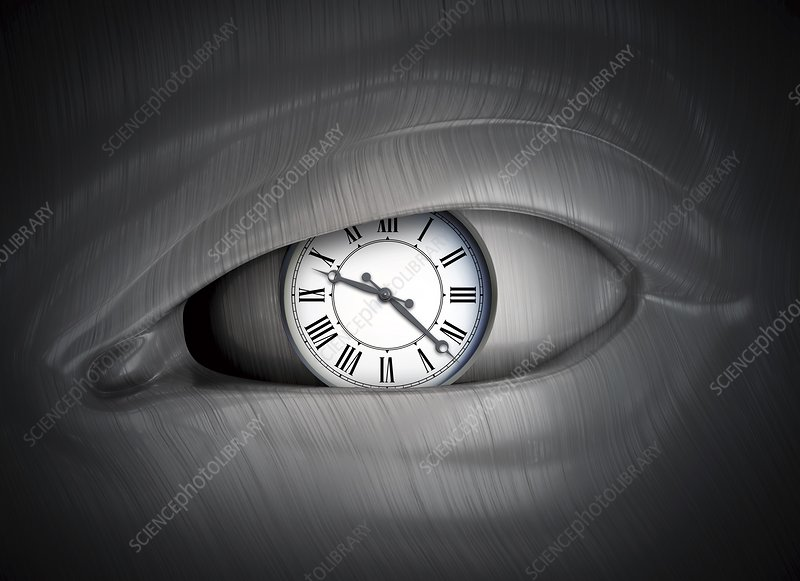 Eye with clock, artwork