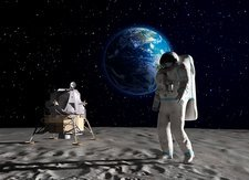 Astronaut on the Moon, artwork