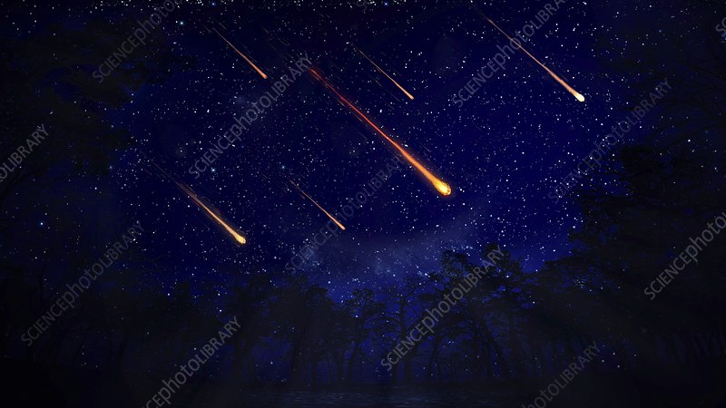 Meteor shower, artwork